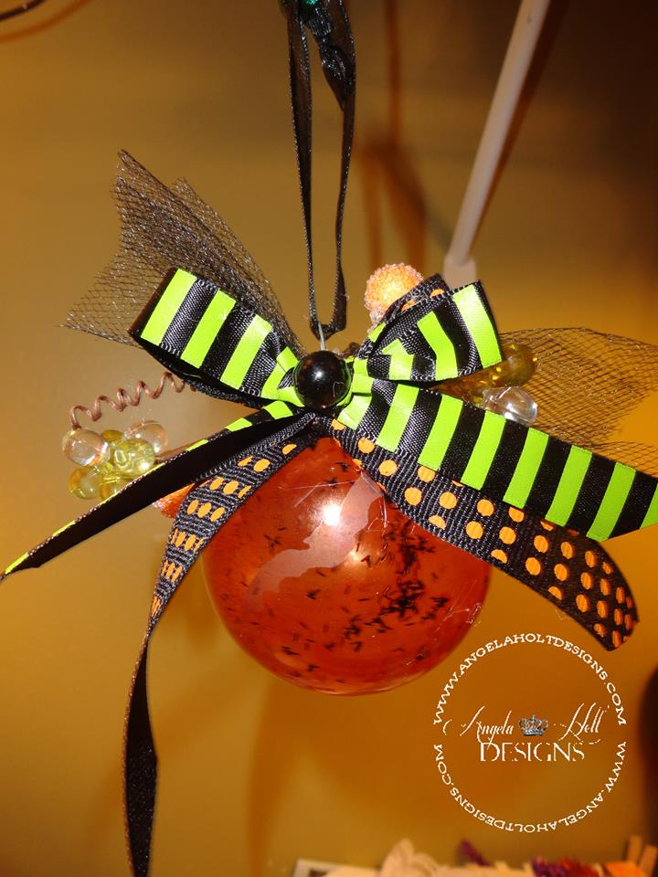 """Altered Halloween Ornament"" by Angela Holt"