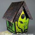 Carmen dichroic halloween bird house
