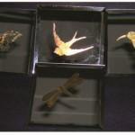 etchall creme - sue gait - gold leaf coasters