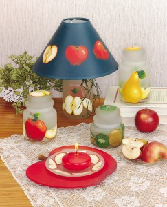 etchall - decorative painting - apple lamp