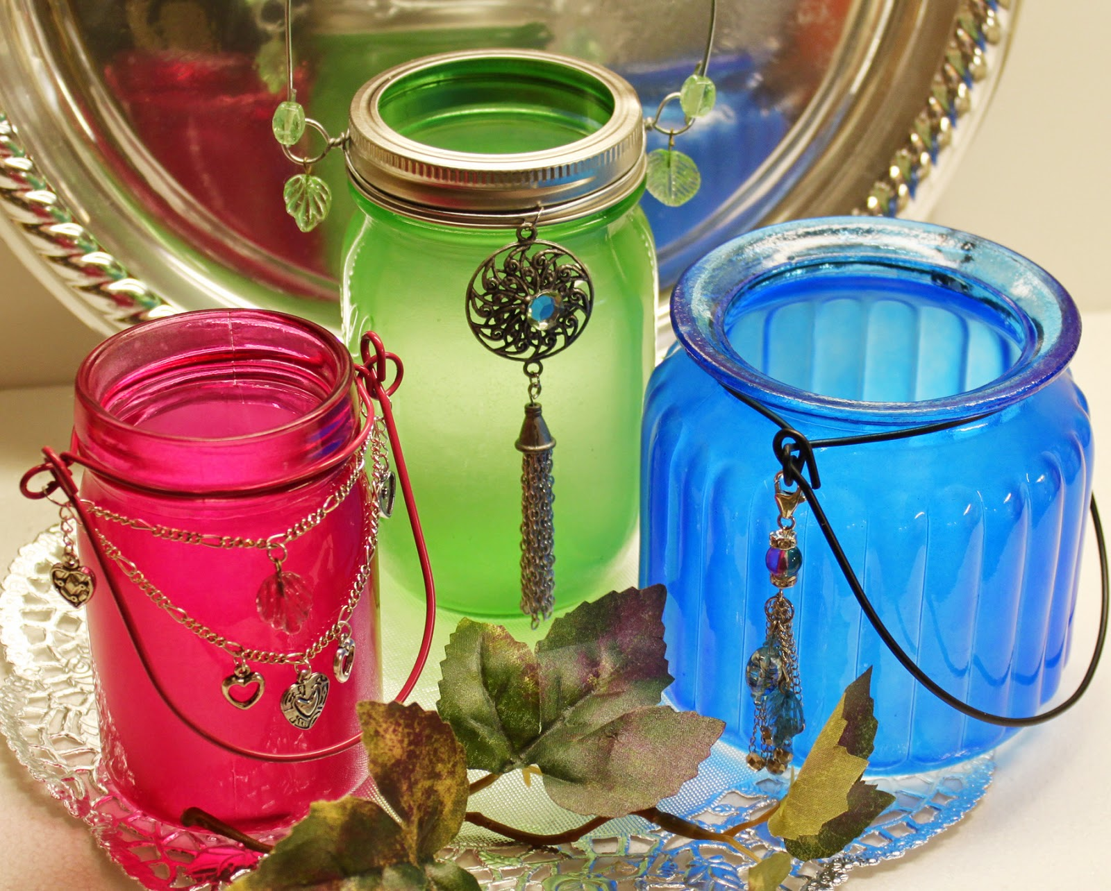 Jewel Jars by Julie McGuffee