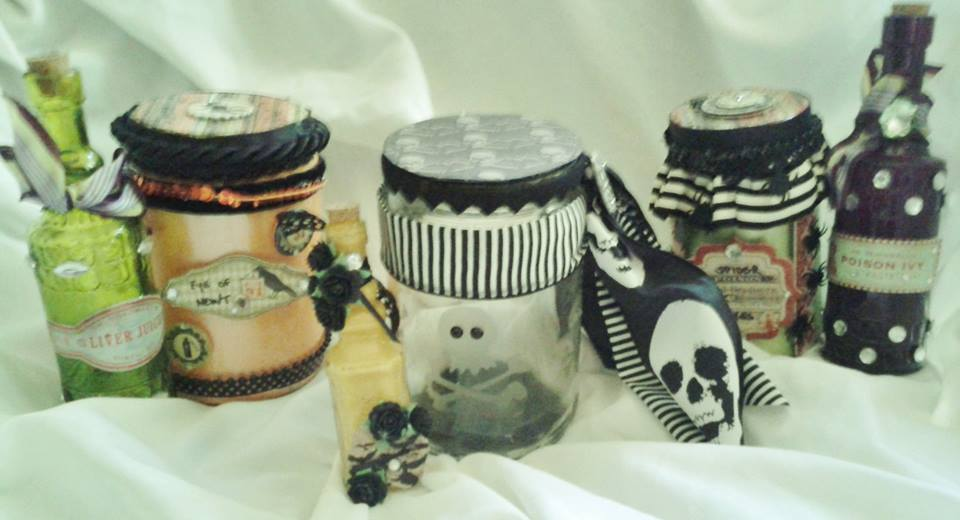 """Etched Halloween Jars"" by Kim Norman"
