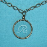 etched glass pendant