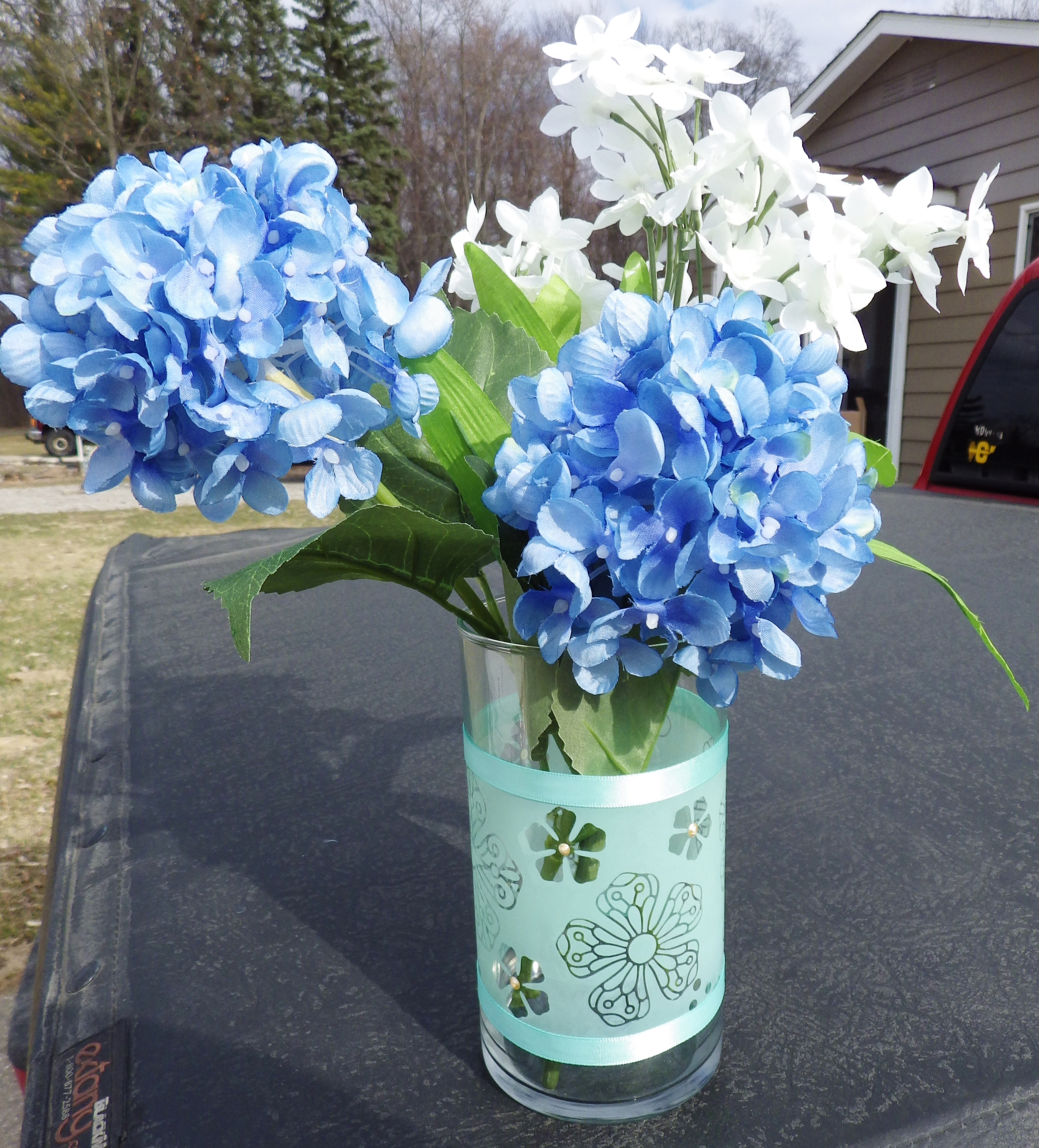 Candy spiegel etched glass vase