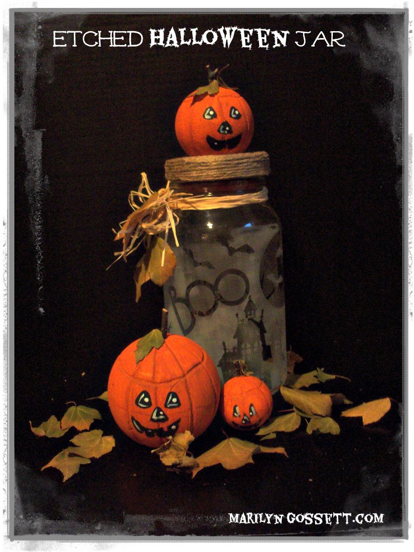 """Halloween Treat Jar"" by Marilyn Gossett"