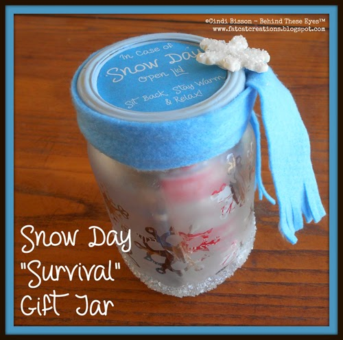 Snow Day Survival Jar - Cindi Bisson McGee