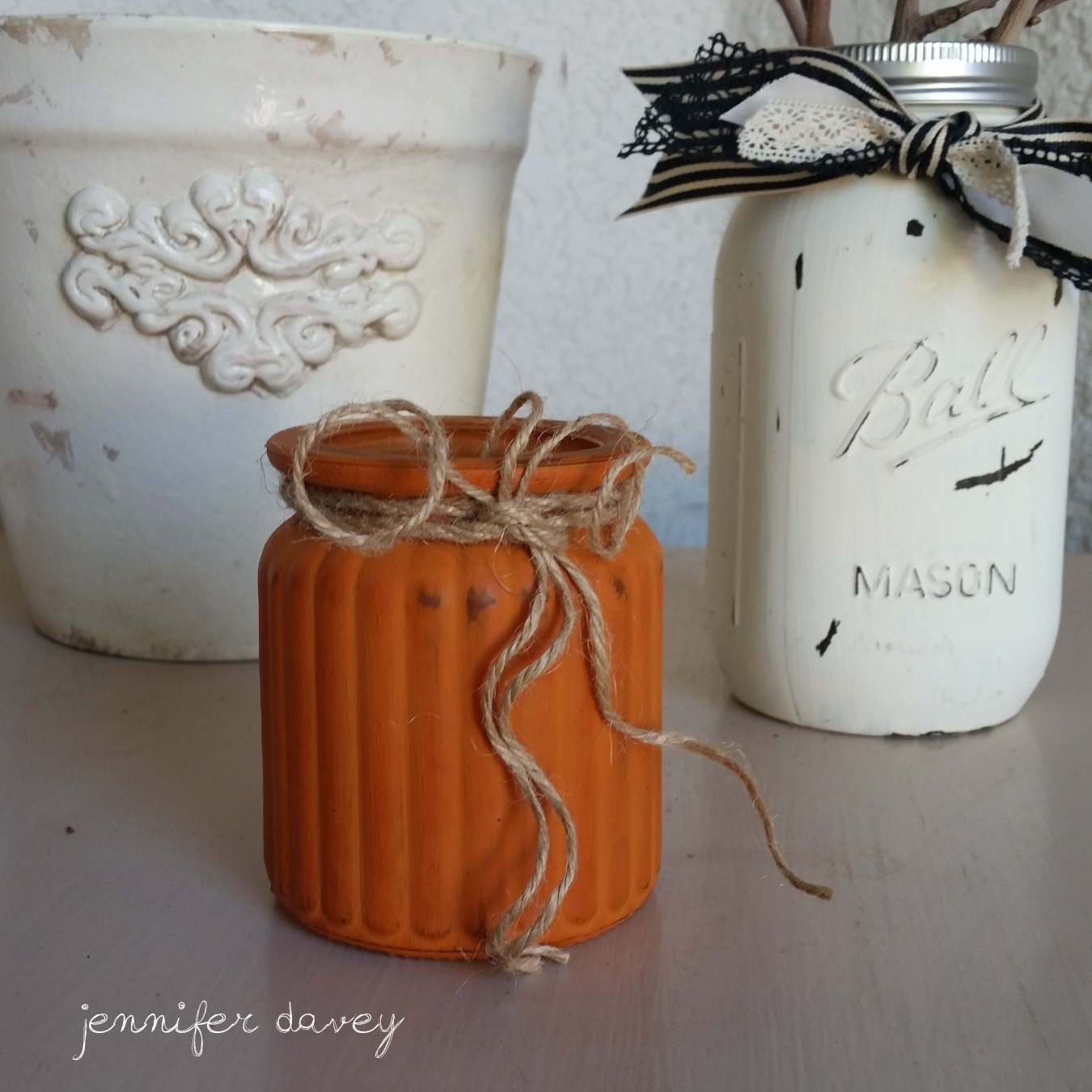 """Chalky Pumpkins with etchall®"" by Jennifer Davey"