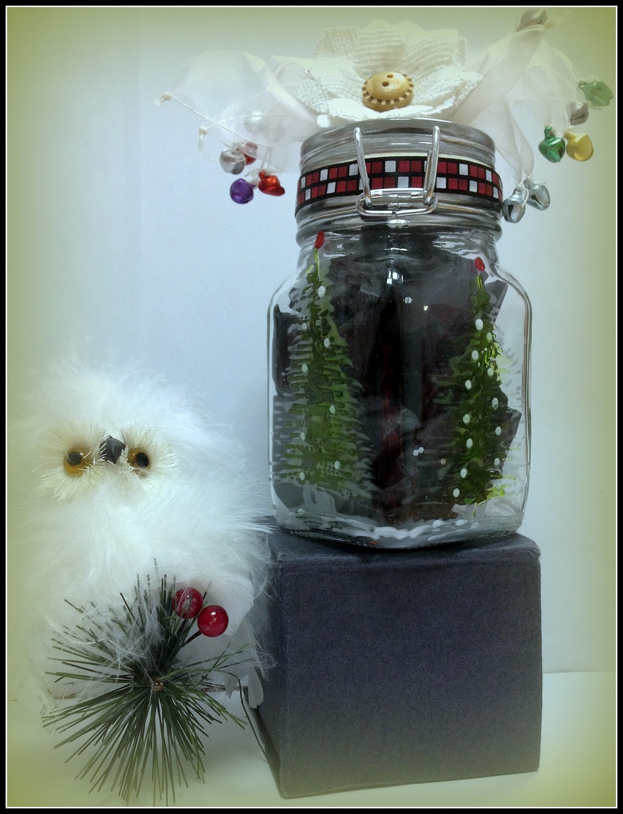 """Oh Christmas Trees"" Jar by Maria Chuy Soto"
