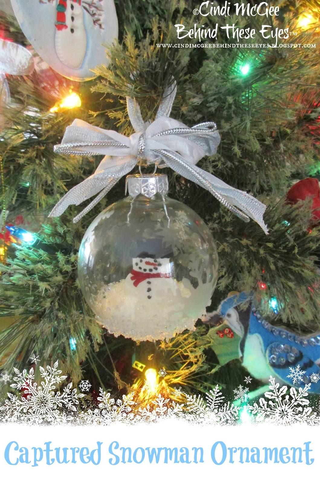 Captured Snowman Ornament - Cindi Bisson McGee
