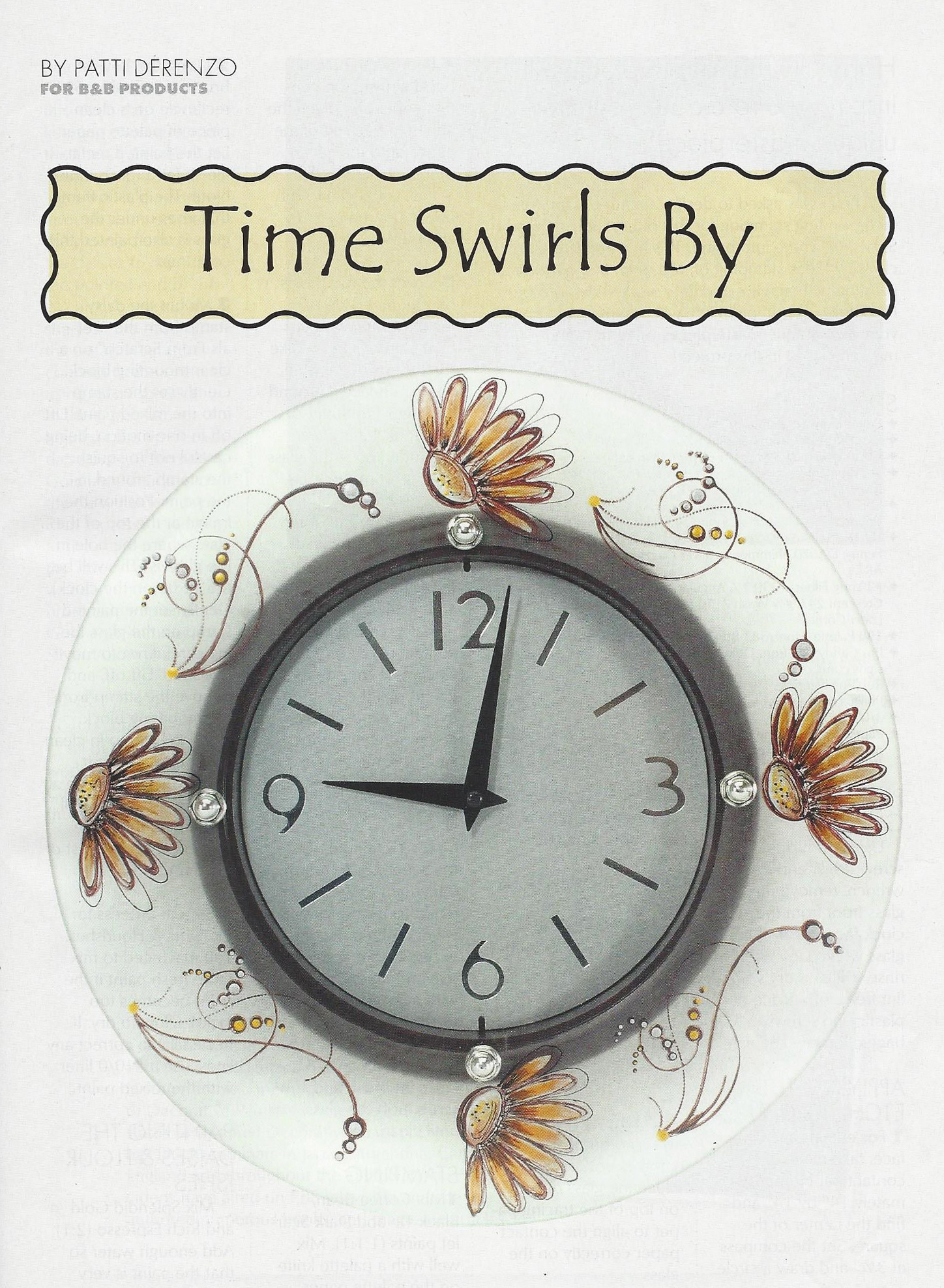 etched glass clock Patti DeRenzo