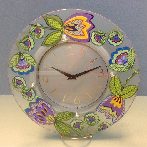 Glass Plated Clock