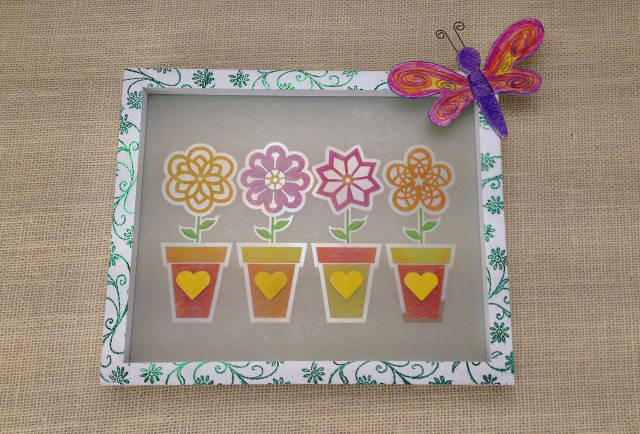 """Flower Pot Frame"" - Carmen Flores Tanis"