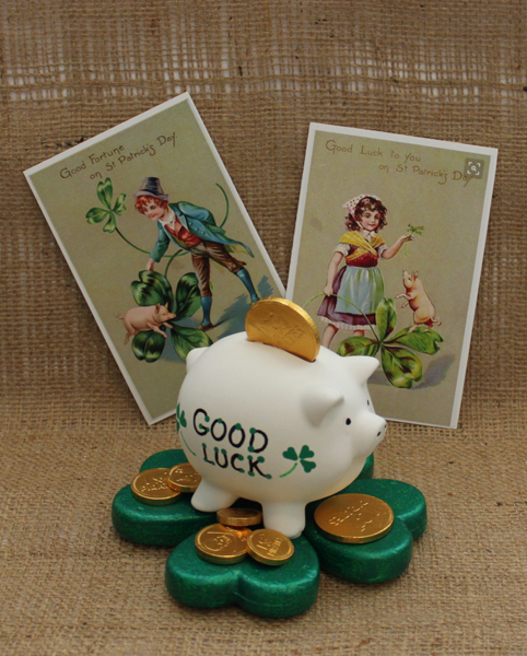 """St. Paddy's Day Pig"" by Julie McGuffee"