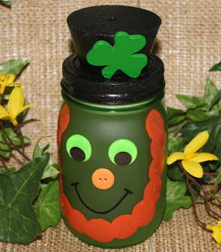 """Lucky Leprechaun Mason Jar"" - Julie McGuffee"