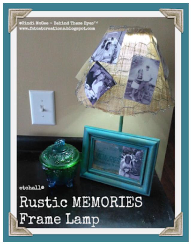 """""""Rustic Memories Frame Lamp"""" - Cindi Bisson McGee"""