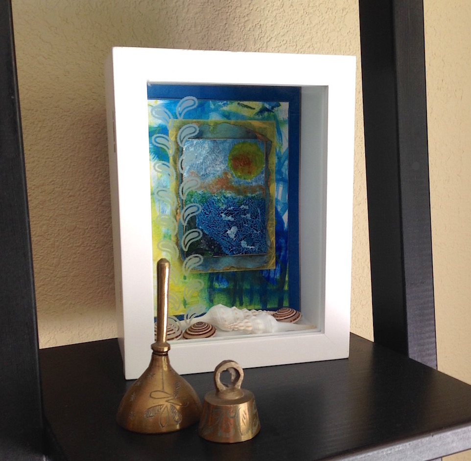 """Etched Glass Shadow Box"" - Lisa Fulmer"