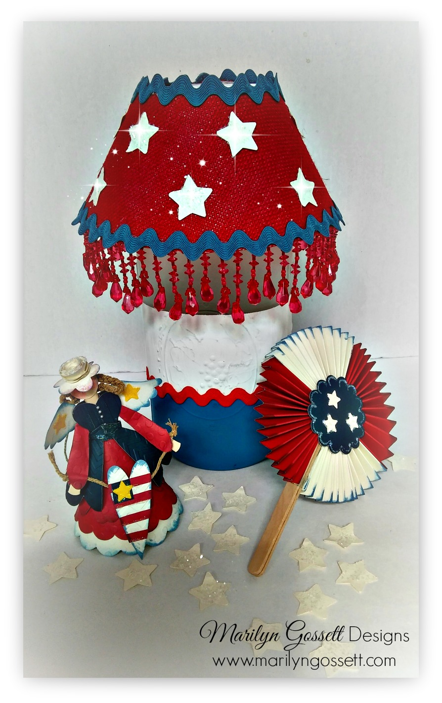 """Patriotic Lamp"" - Marilyn Gossett"