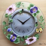 Etched Clock By April Numamoto spring