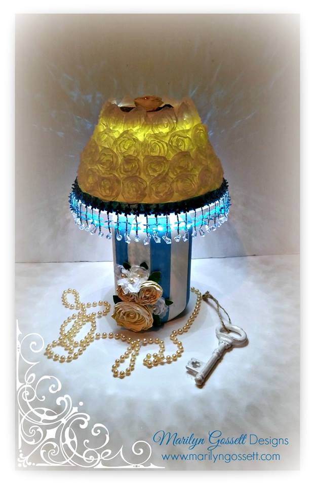 Mother's Day Ball Jar Lamp by Marilyn Gossett