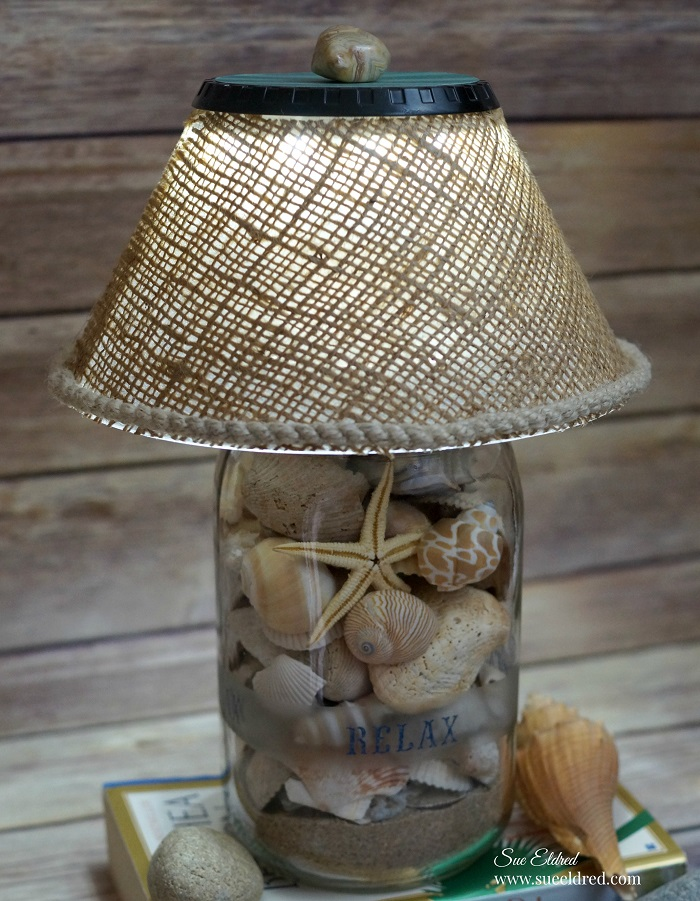 """DIY Seashell Lamp"" - Sue Eldred"