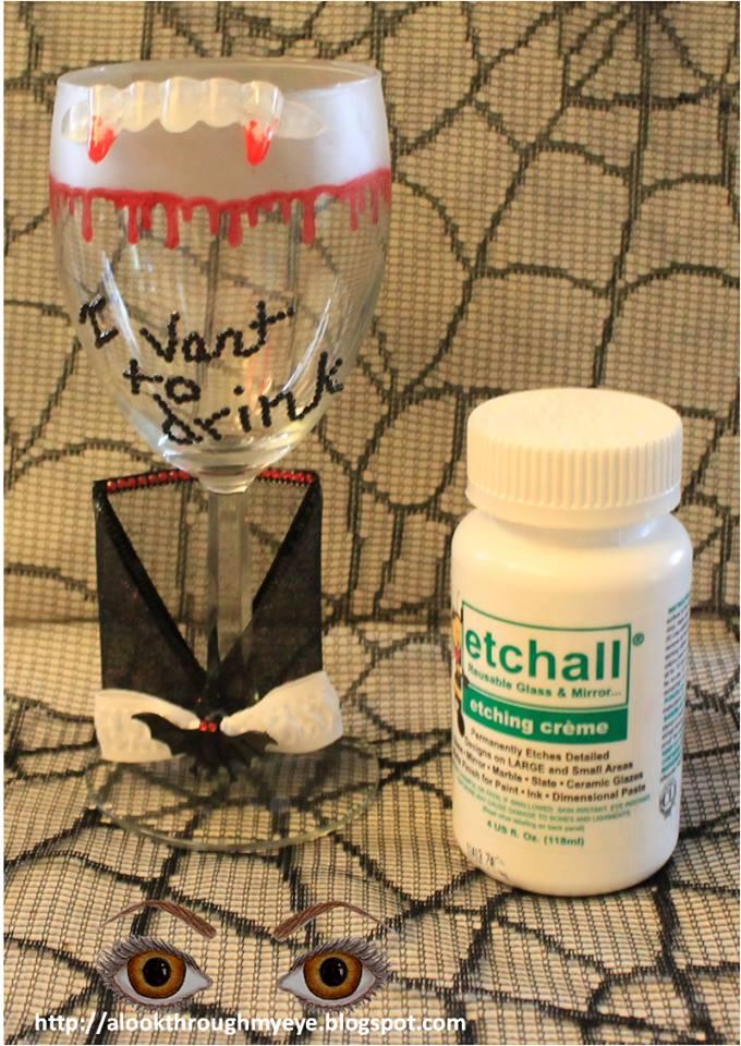 Dracula Wine Glass by Deb Ochs Lagrone