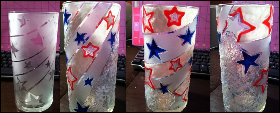 Patriotic Tumblers by Maria Chuy Soto