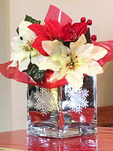 etched Mirror Snowflake Vase - Julie McGuffee