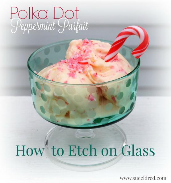 Etched Peppermint Parfait Glass - Sue Eldred