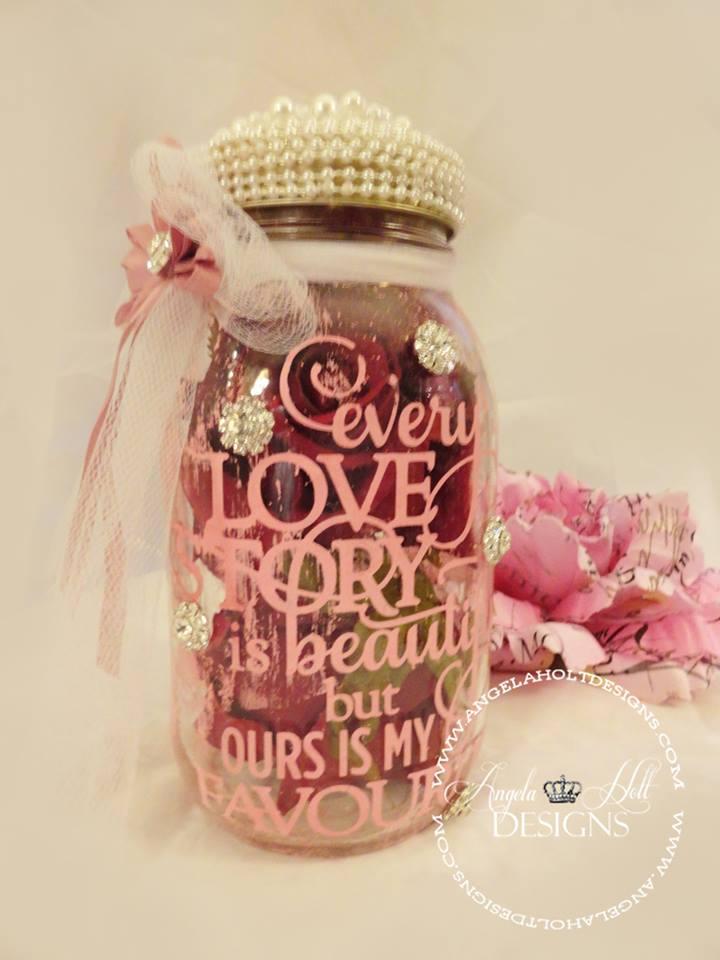 Valentine Mason Jar by Angela Holt
