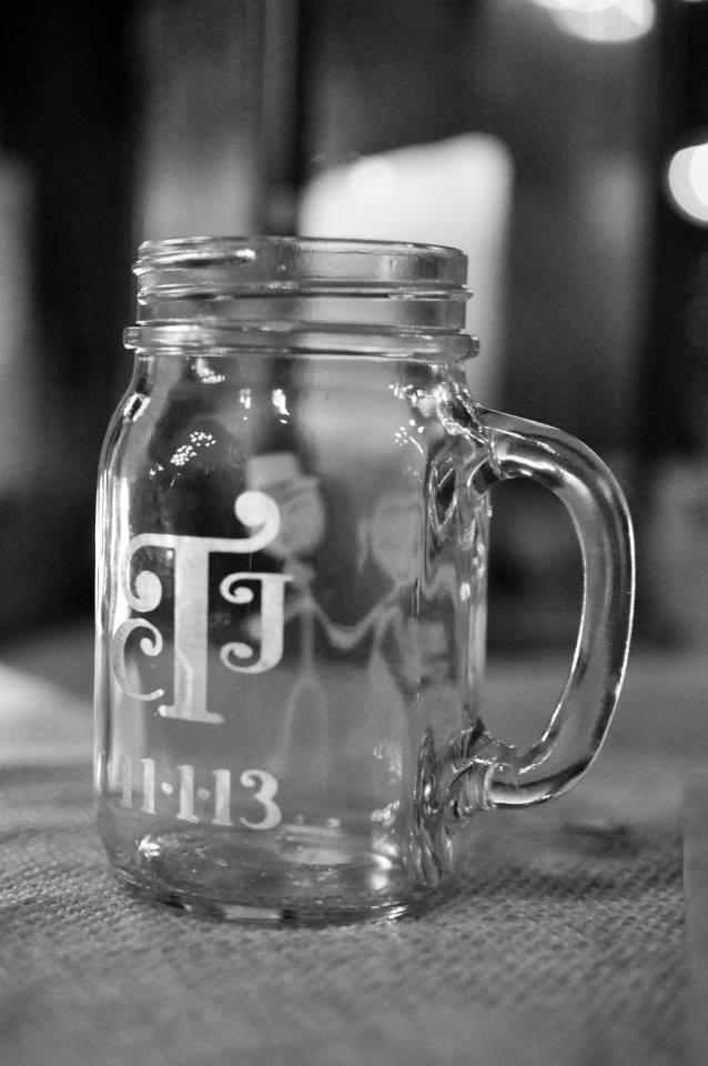 Monogrammed Mason Jar Mug - Vicki Alley