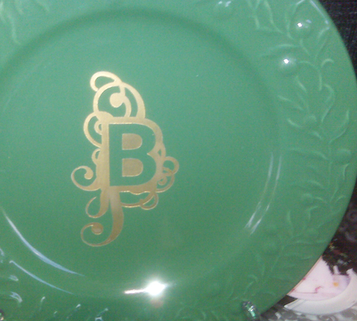 Monogrammed Plate - Barbee Bosler