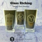 joe rotella etched pint glasses logos