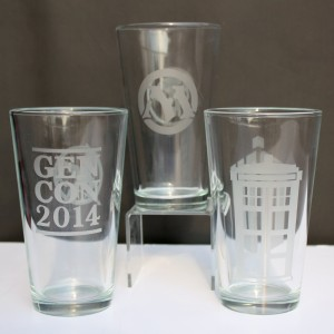 joe rotella logo pint glasses