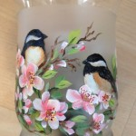 chickadees and blossoms