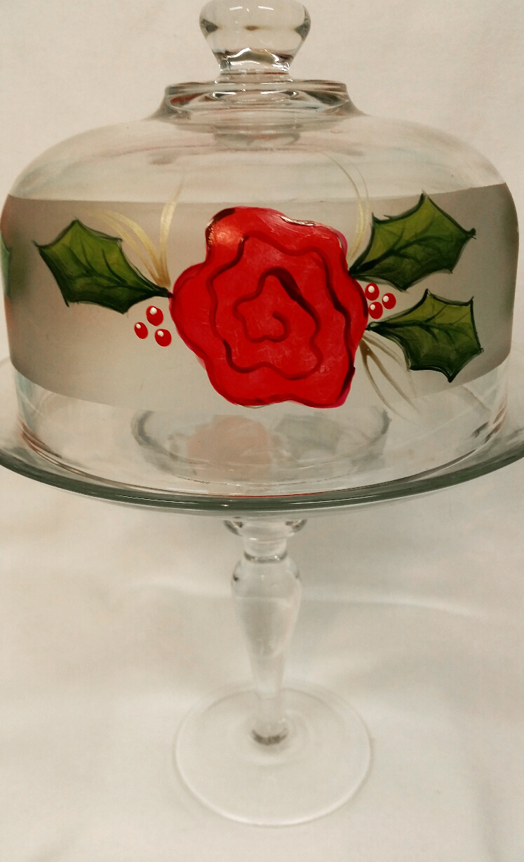 Rose Cake Dome by Vicki Alley