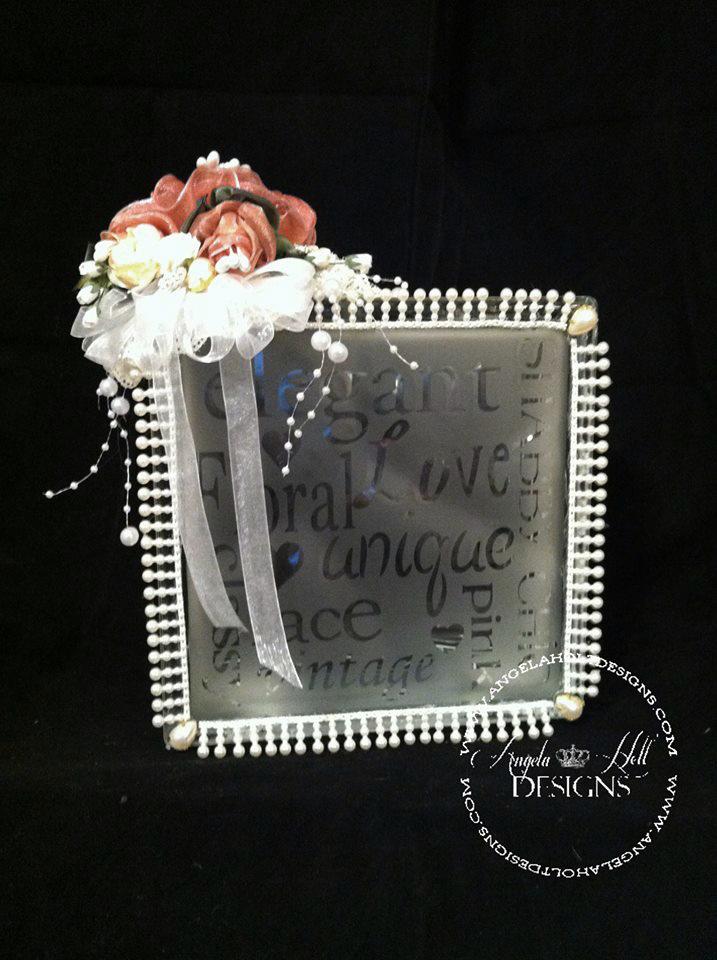 Angela Holt - Shabby chic glass kraft box