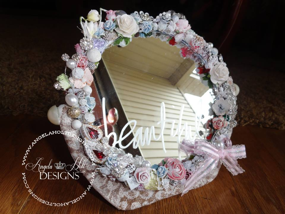 Angela Holt - Vanity Mirror etched Beautiful