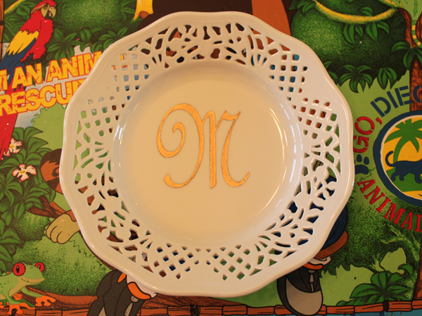 Mother's Day China Plate by Julie McGuffee