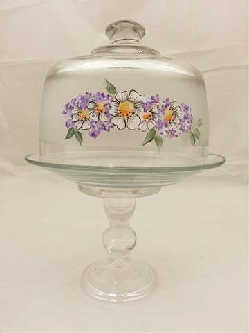 Purple Flower Cake Dome by Vicki Alley