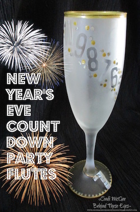 Count Down to New Year's Flutes by Cindi Bisson McGee