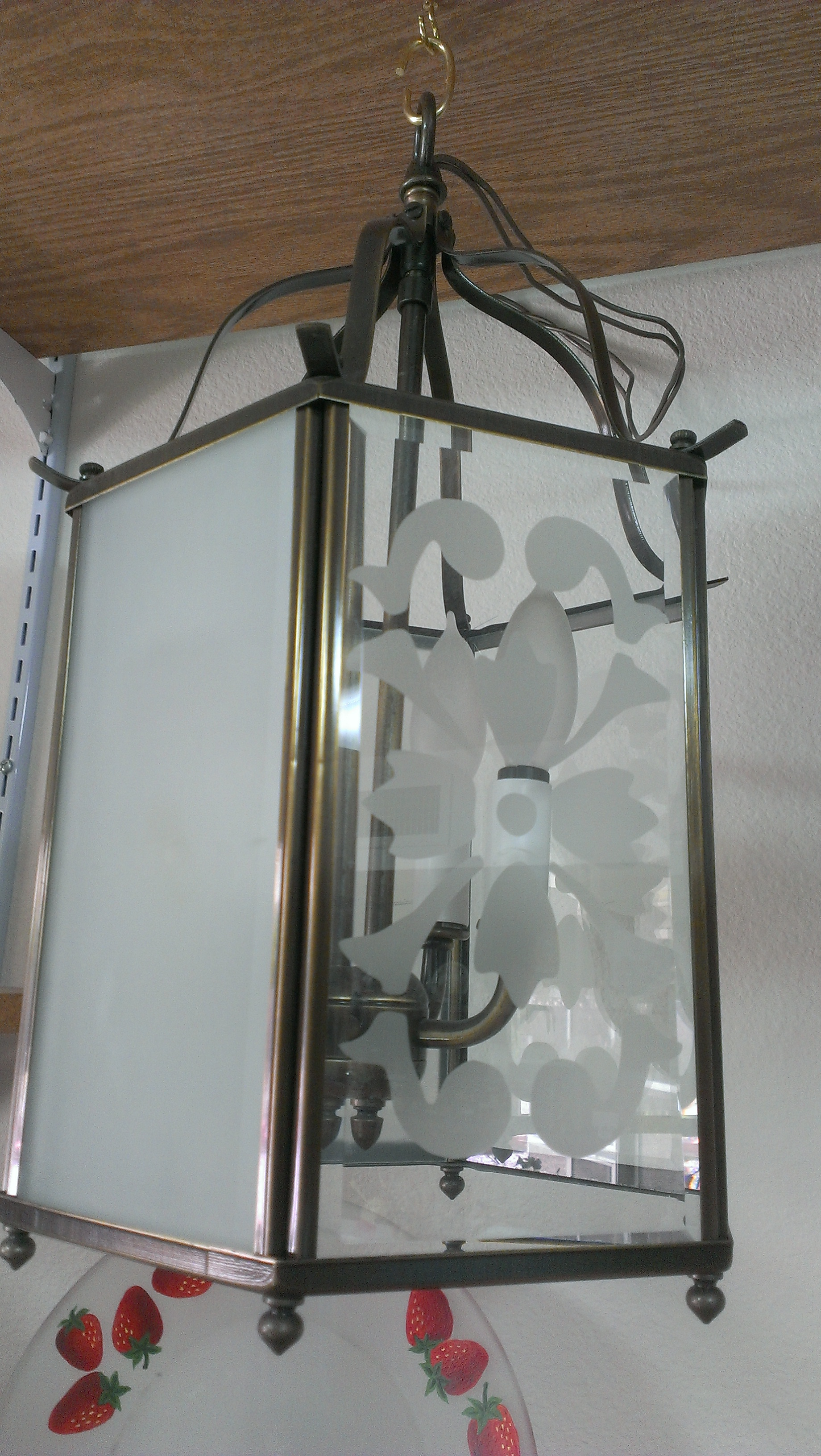 Etched Lantern light