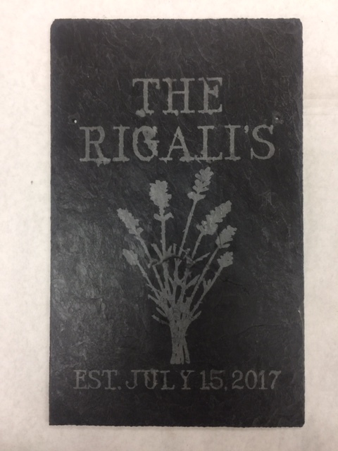 Rigalis Family Plaque from Sheryll Kidder's etchall class