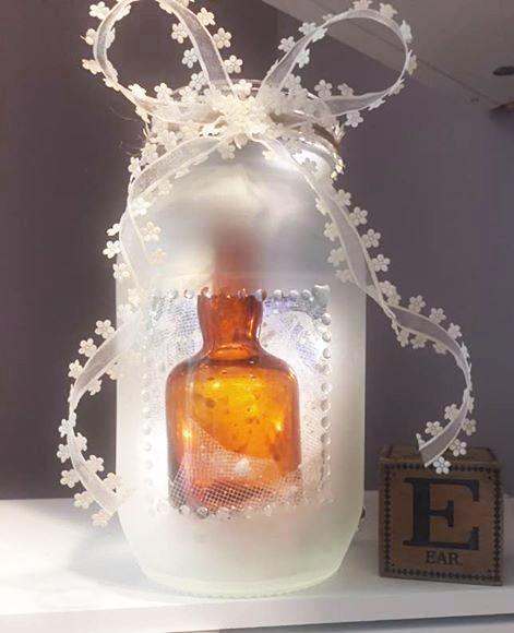 Etched Mason Jar by Sharon K Hammond