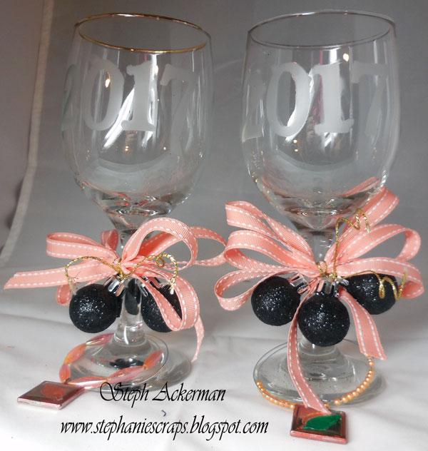 Etched New Year Glasses by Steph Ackerman