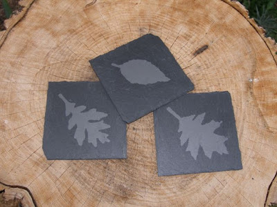 Leaf Coasters with etchall® by Terry Ricioli
