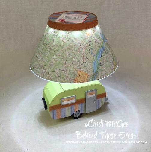 Vintage Camper Lamp by Cindi Bisson McGee