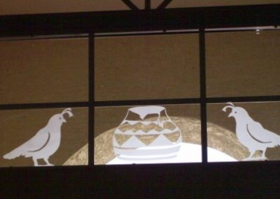 Etched Quail Window