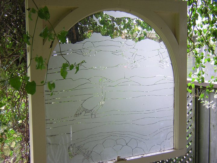 Etching Vertical Surfaces