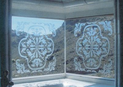 Intricate Etched Window