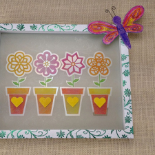 Flower Garden Etched Glass Panel